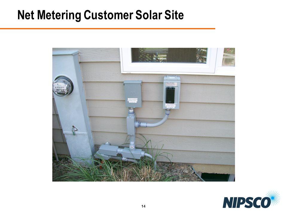 14 Net Metering Customer Solar Site