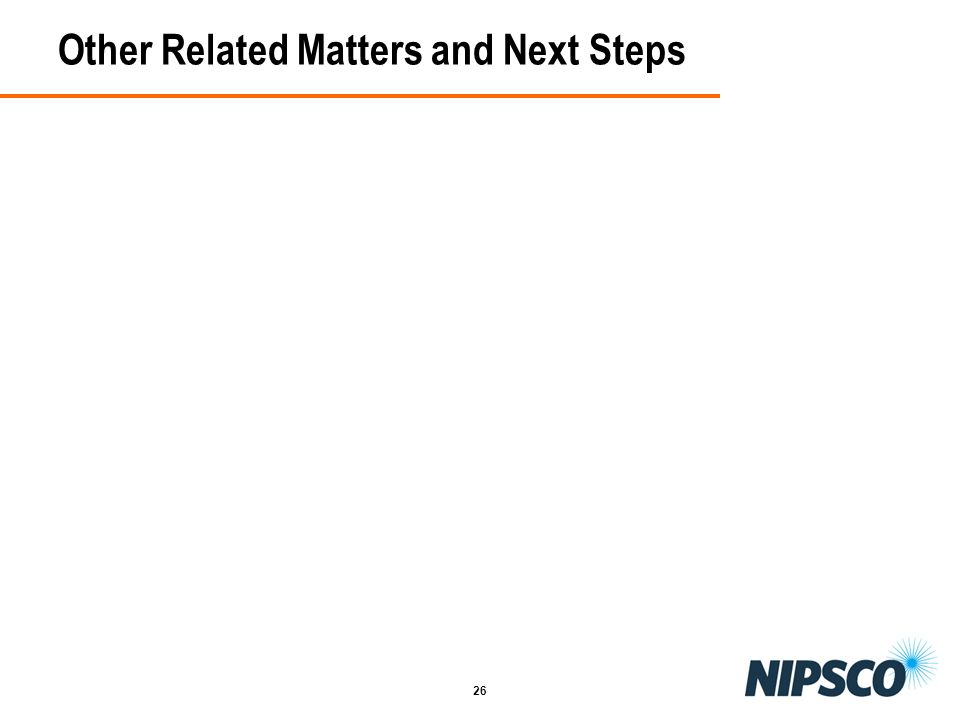 26 Other Related Matters and Next Steps