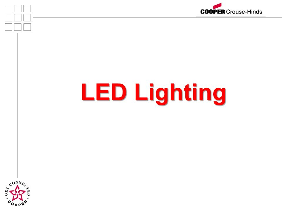 2 Agenda Introductions Introductions Lighting Definitions Lighting Definitions LEDs Benefits LEDs Benefits LED Luminaire Construction LED Luminaire Construction Evaluating an LED System Evaluating an LED System Crouse Hinds LED Products Crouse Hinds LED Products System Reliability System Reliability Summary Summary