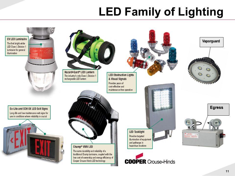 LED Family of Lighting 11 Egress Vaporguard