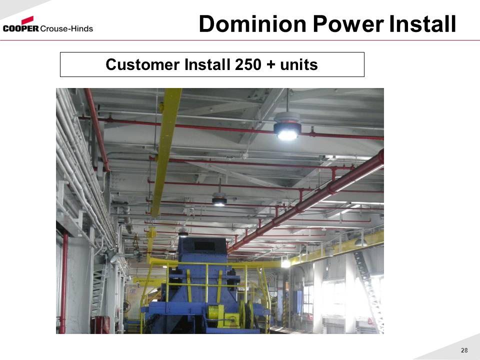 28 Dominion Power Install Customer Install 250 + units