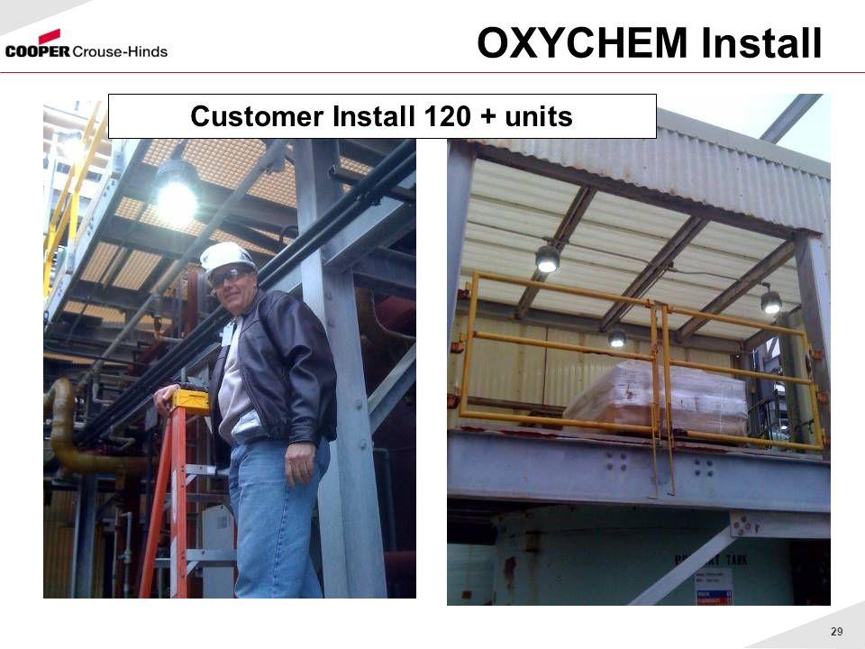 29 OXYCHEM Install Customer Install 120 + units