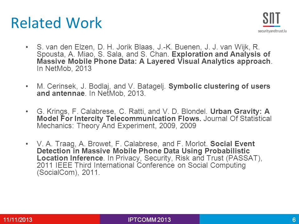 Related Work S. van den Elzen, D. H. Jorik Blaas, J.-K. Buenen, J. J. van Wijk, R. Spousta, A. Miao, S. Sala, and S. Chan. Exploration and Analysis of