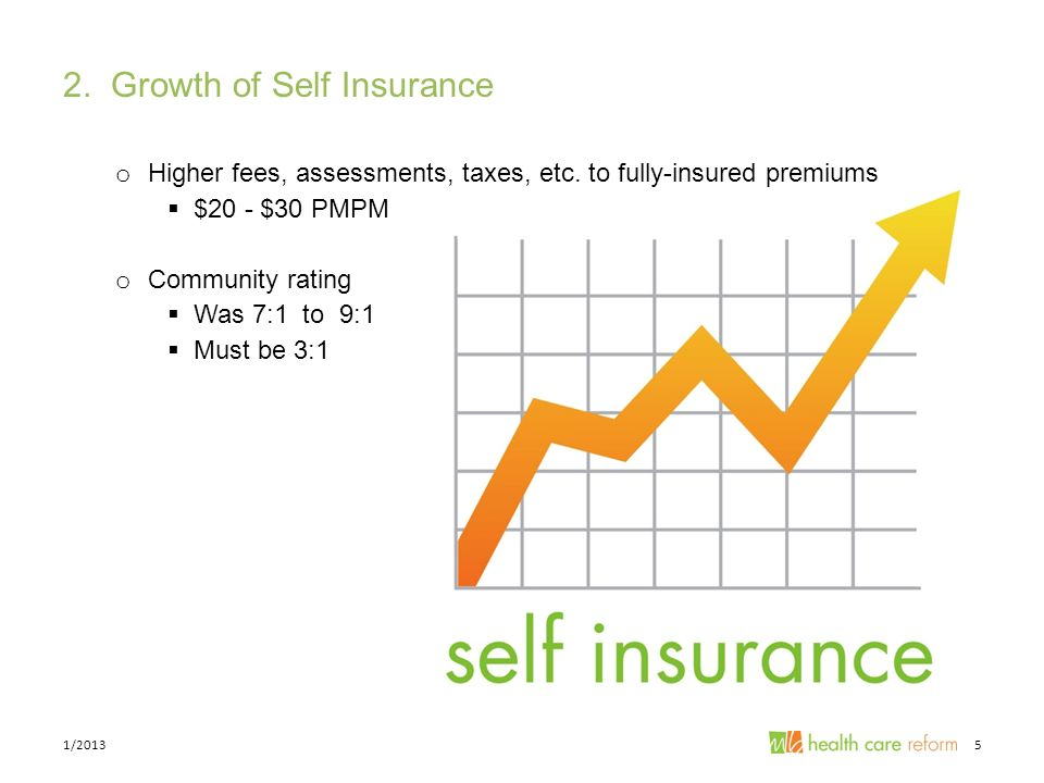 2. Growth of Self Insurance o Higher fees, assessments, taxes, etc.