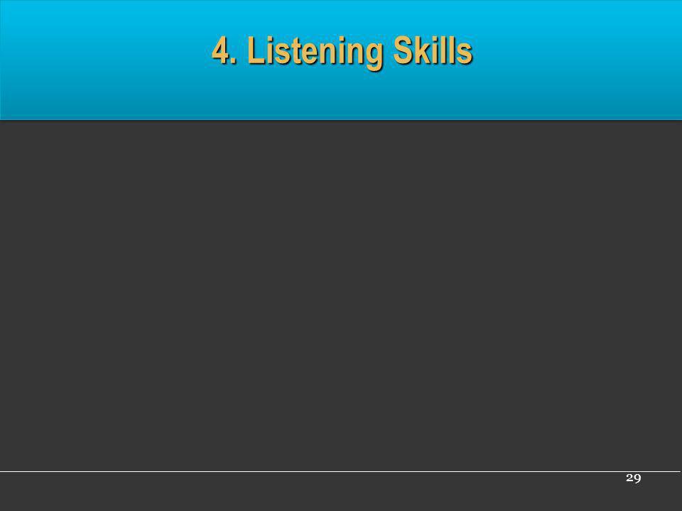 29 4. Listening Skills