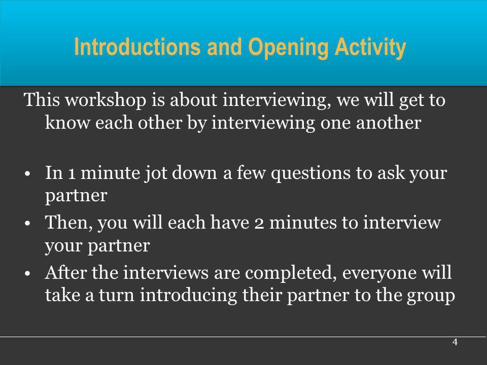 35 5. Mock interviews