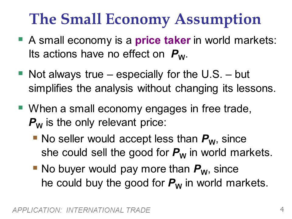 APPLICATION: INTERNATIONAL TRADE 24 Arguments for Restricting Trade 5.