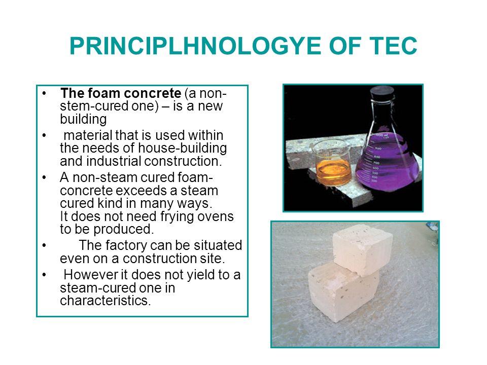 Foam concrete Foam concrete is created by uniform distribution of air bubbles throughout the mass of concrete.