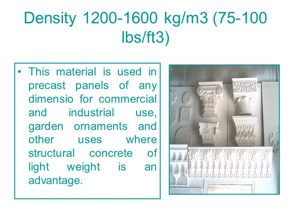 Main features and characteristics of foam concrete Type of foam concrete Sort of foam concrete according to average density Non-autoclave foam concrete 28 day compressive strength MPa** Thermal Conductivity W/mk