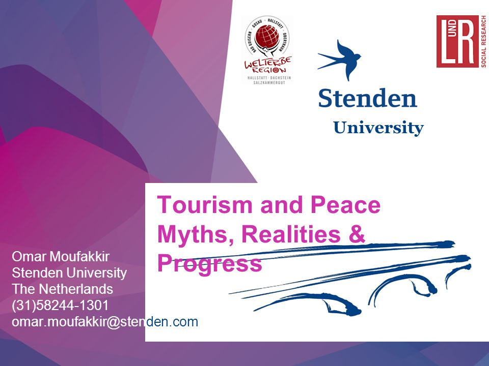 11/11/20131 | Tourism and Peace Myths, Realities & Progress Omar Moufakkir Stenden University The Netherlands (31) University