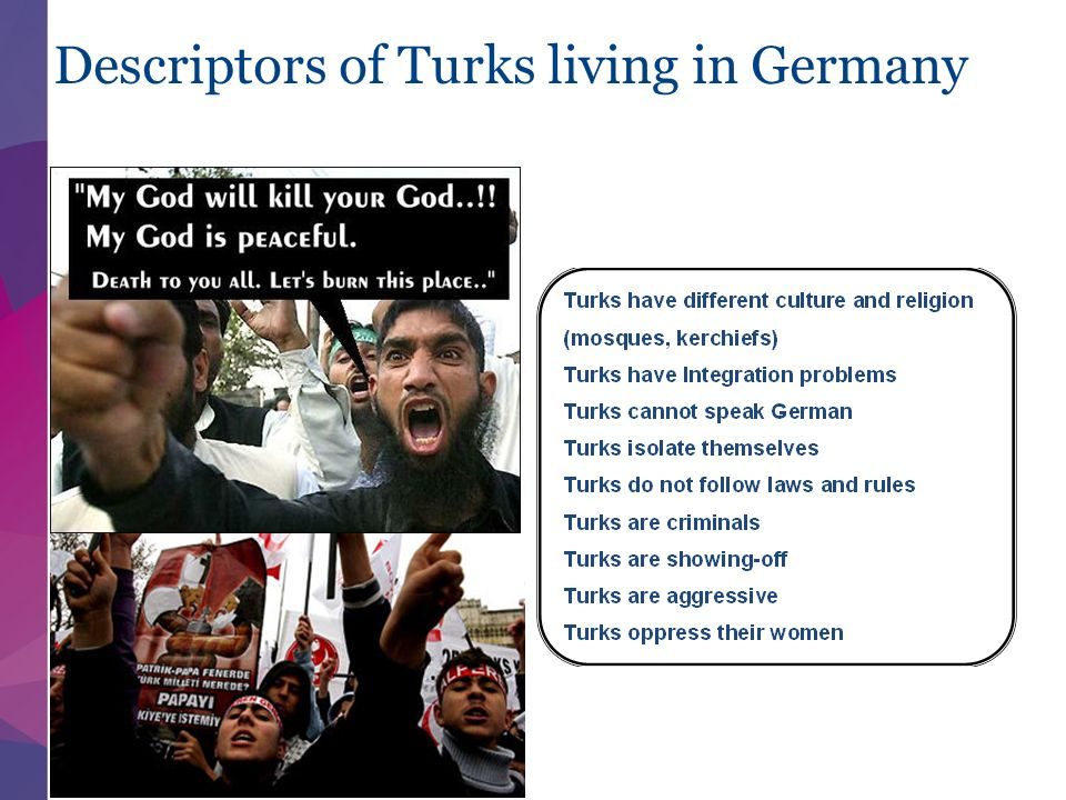 Descriptors of Turks living in Germany 11/11/ |