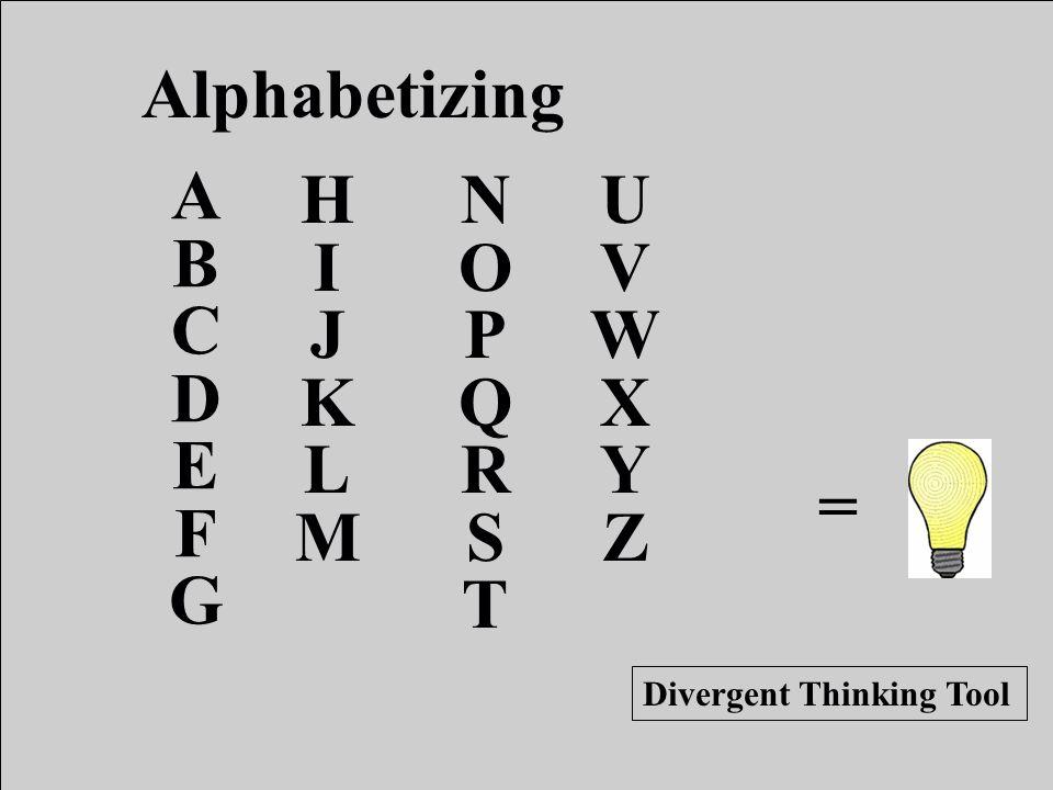 = Alphabetizing ABCDEFGABCDEFG HIJKLMHIJKLM NOPQRSTNOPQRST UVWXYZUVWXYZ