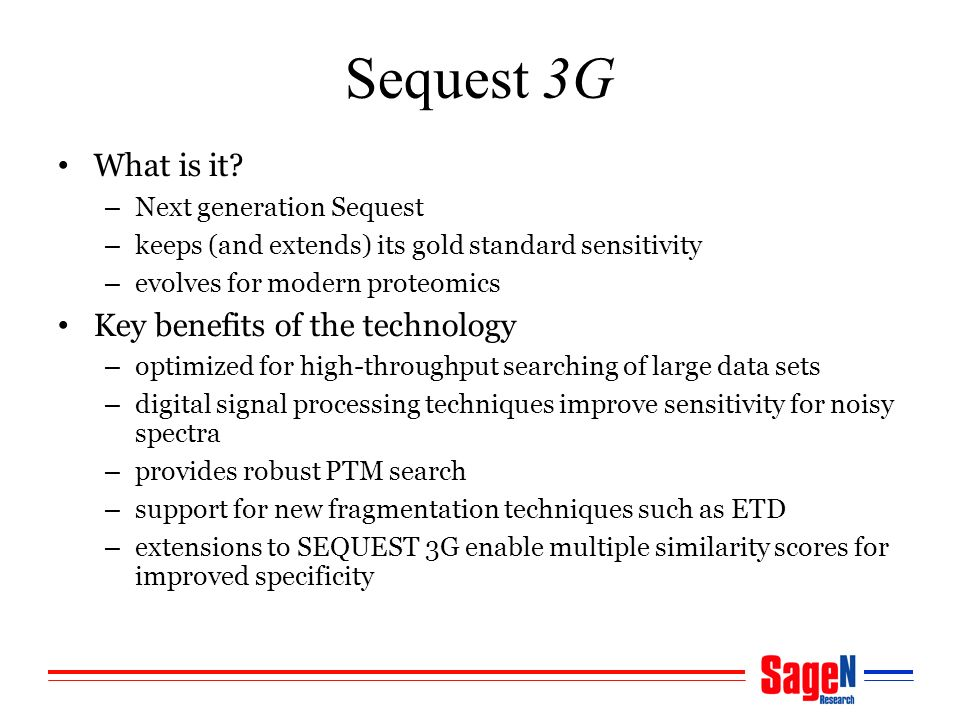 Sequest 3G What is it.