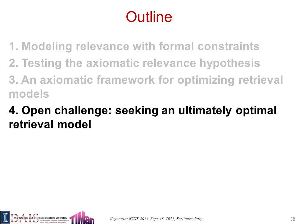 Keynote at ICTIR 2011, Sept. 13, 2011, Bertinoro, Italy Outline 1.