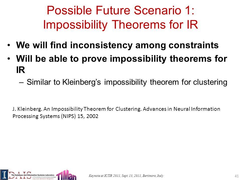Keynote at ICTIR 2011, Sept.