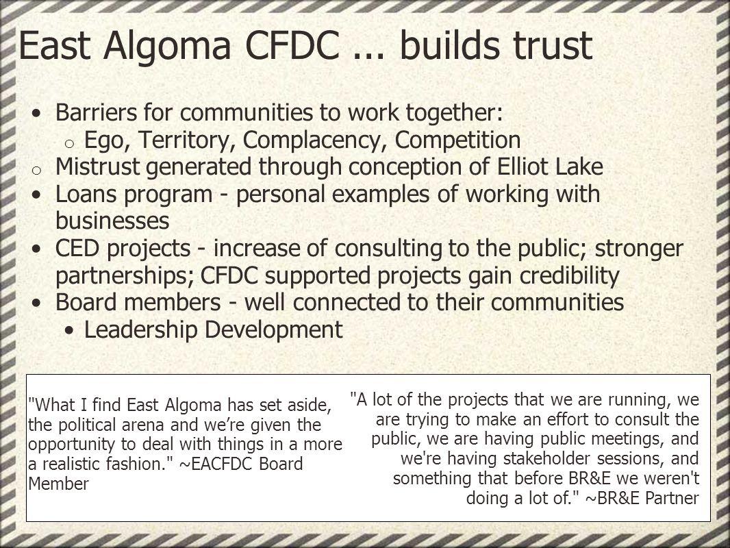 East Algoma CFDC...