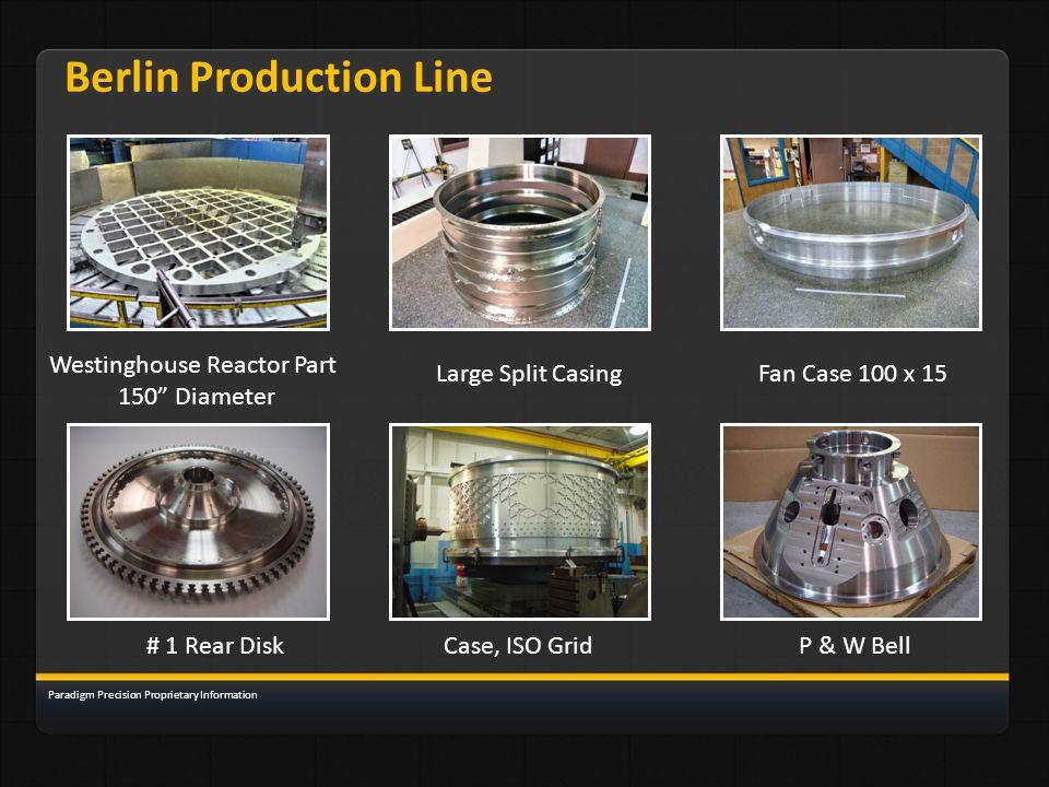 Berlin Production Line Westinghouse Reactor Part 150 Diameter Fan Case 100 x 15Large Split Casing # 1 Rear DiskCase, ISO GridP & W Bell Paradigm Preci