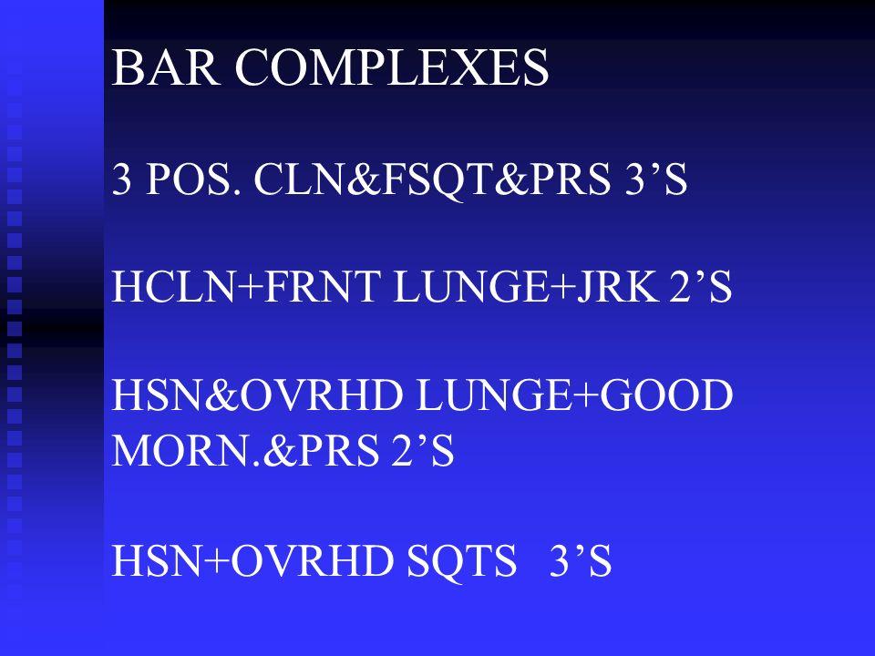 BAR COMPLEXES 3 POS.