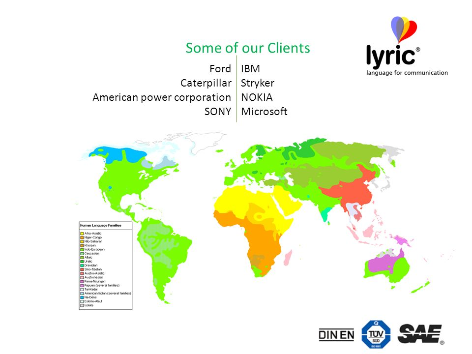 Some of our Clients IBM Stryker NOKIA Microsoft Ford Caterpillar American power corporation SONY