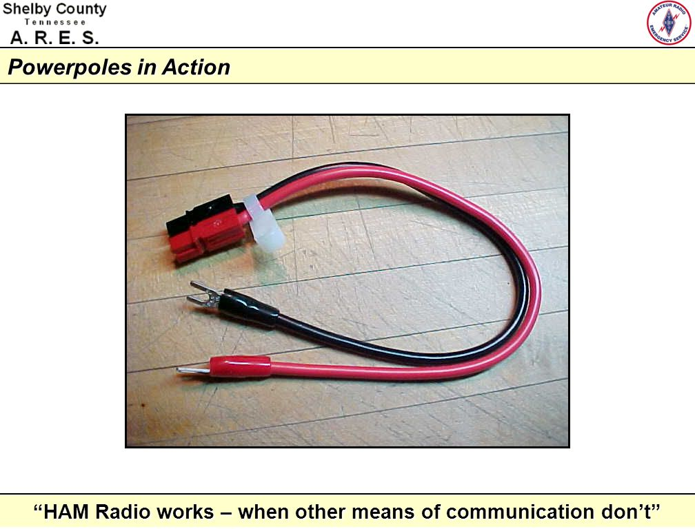 HAM Radio works – when other means of communication dont Powerpoles in Action