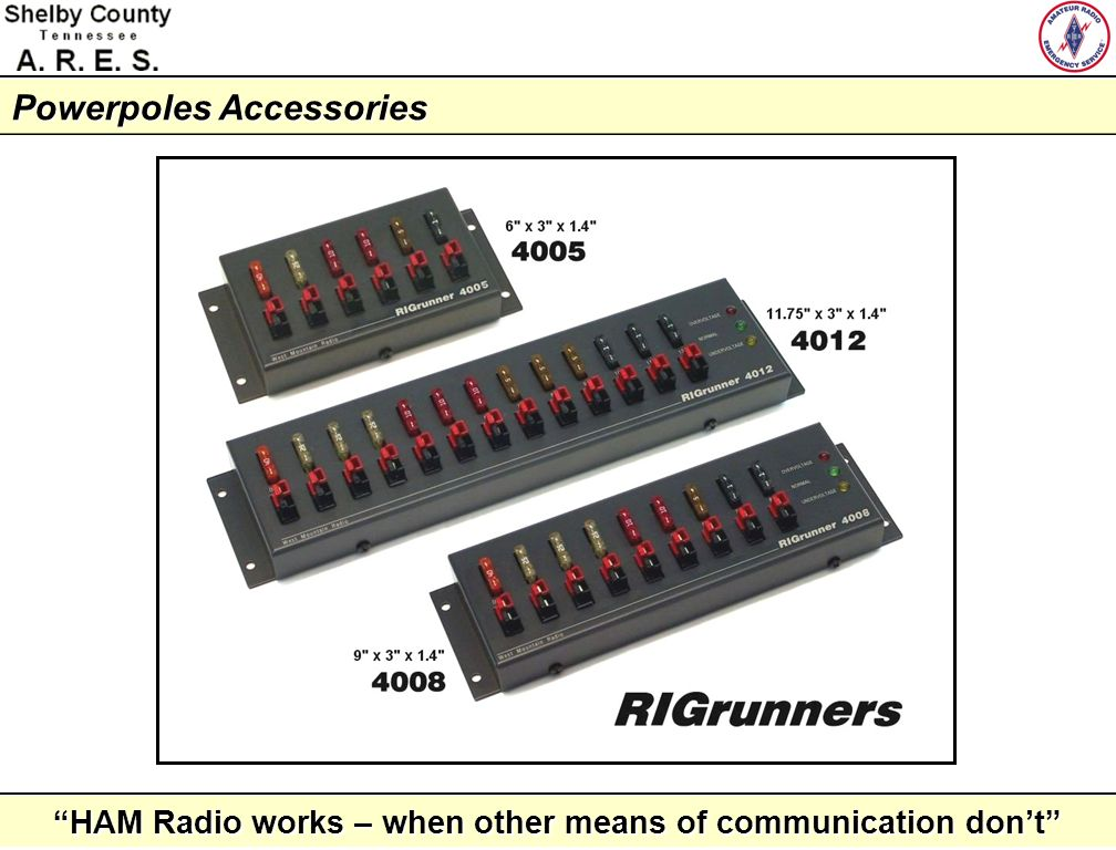 HAM Radio works – when other means of communication dont Closing Thoughts The 30A Powerpole is an ideal connector for 12vDC power connections.The 30A Powerpole is an ideal connector for 12vDC power connections.