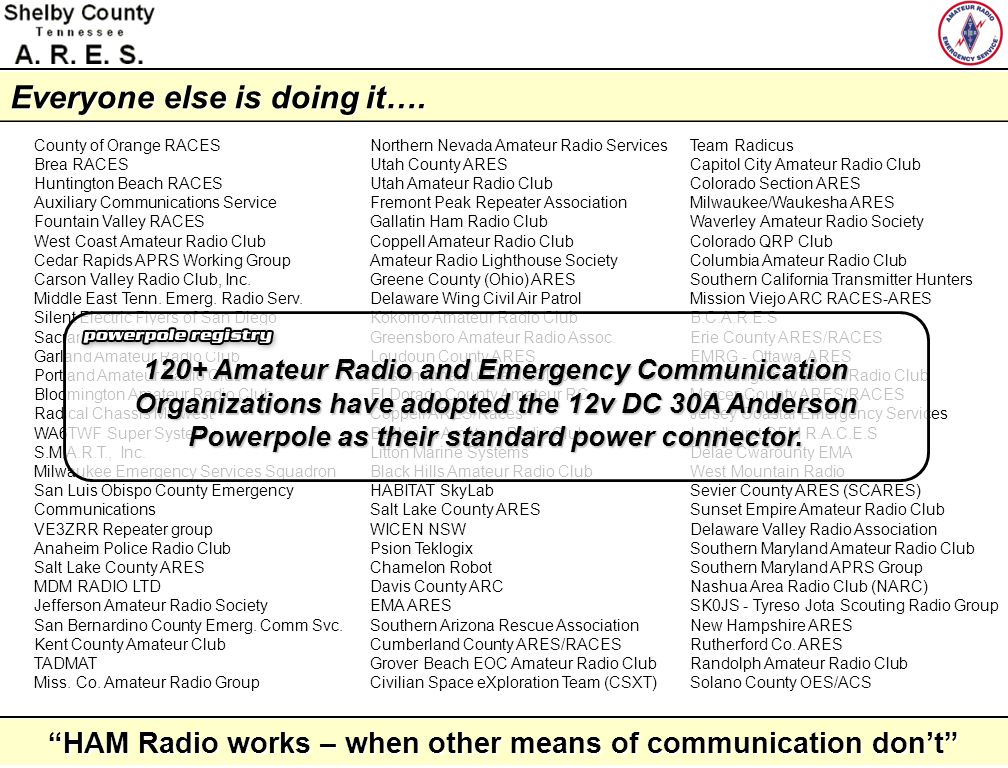 HAM Radio works – when other means of communication dont Anatomy of a Powerpole