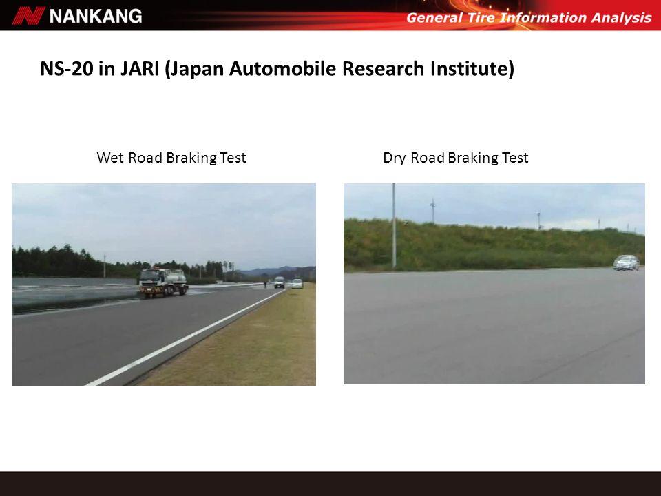 NS-20 in JARI (Japan Automobile Research Institute) Wet Road Braking TestDry Road Braking Test
