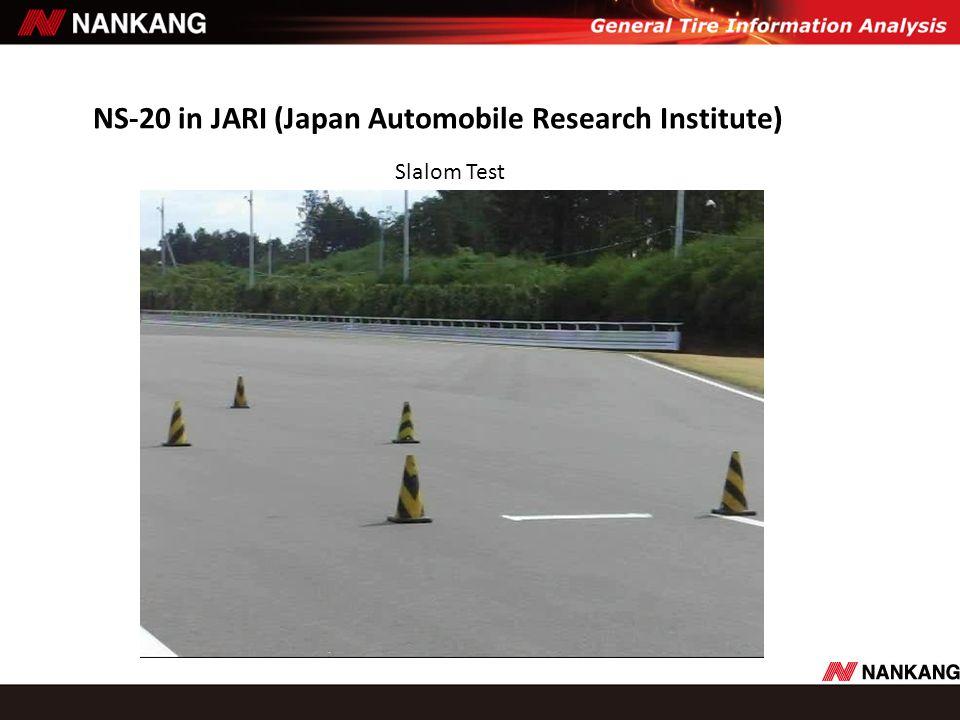 NS-20 in JARI (Japan Automobile Research Institute) Slalom Test