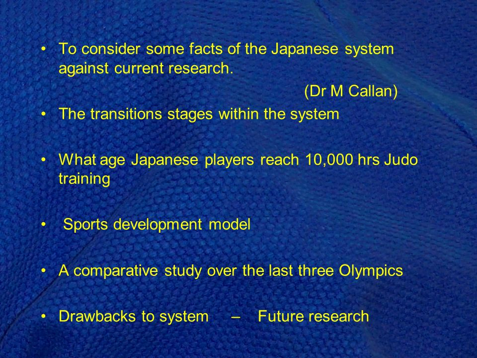 Does Japans TI model match Baylis model .(Balyi & Way, 2002) Count the cost before you commit...