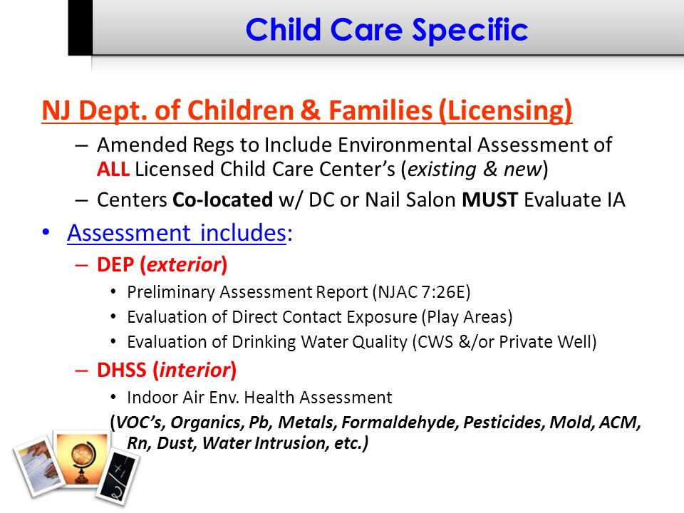 Child Care Specific NJ Dept.
