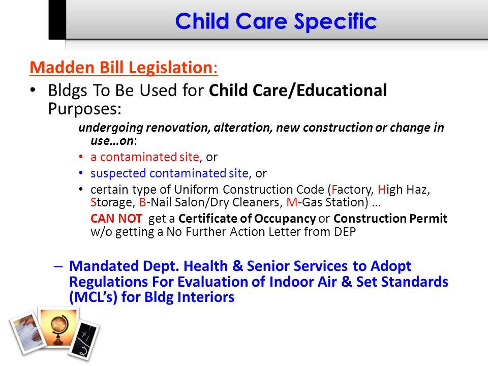 Child Care Specific NJ Dept.
