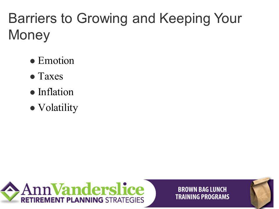 Emotion Taxes Inflation Volatility Barriers to Growing and Keeping Your Money