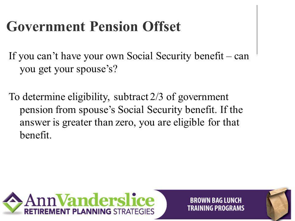 If you cant have your own Social Security benefit – can you get your spouses.