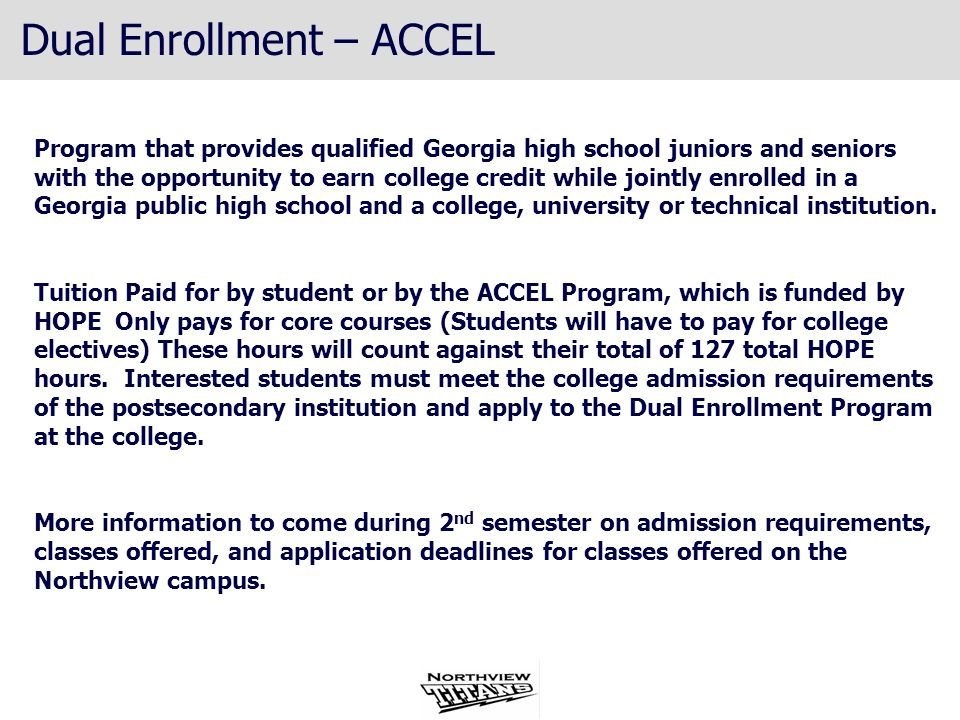 Program that provides qualified Georgia high school juniors and seniors with the opportunity to earn college credit while jointly enrolled in a Georgi