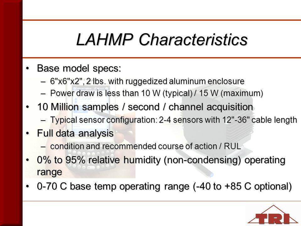 LAHMP Characteristics Base model specs:Base model specs: –6 x6 x2 , 2 lbs.