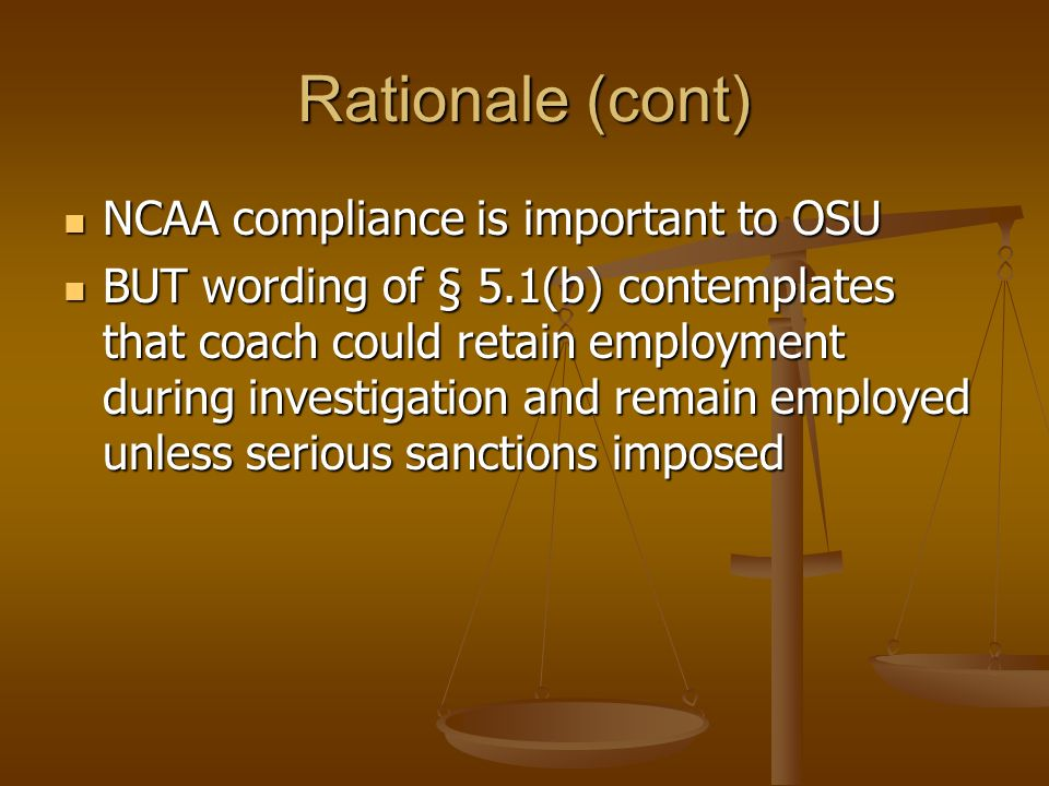 Rationale for finding no material breach The extent to which OSU was deprived of the benefit it expected from employment K was not as significant as O