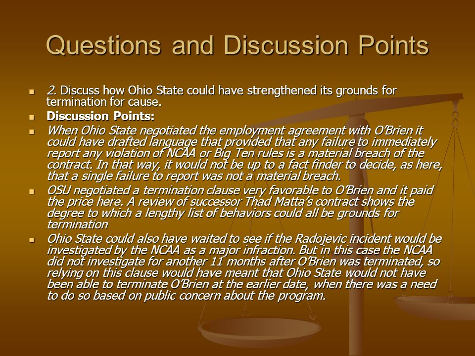 Questions and Discussion Points 1. The judge in this case interpreted the facts in favor of OBrien when he characterized the loan as for humanitarian