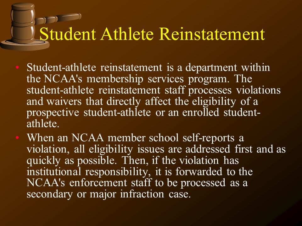 NCAA Compliance Lessons Amateurism Clearinghouse Reinstatement– Could Radojevic be reinstated after playing on a professional team? Extra Benefit – Co