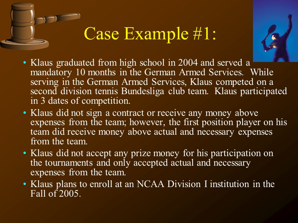 Clear Decision Amateurism Clearinghouse Guidelines Division I Student Athlete Reinstatement Guidelines