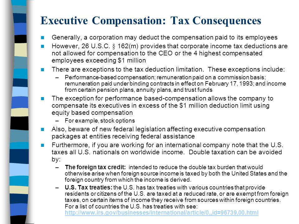 Examples of Executive Compensation Mr.