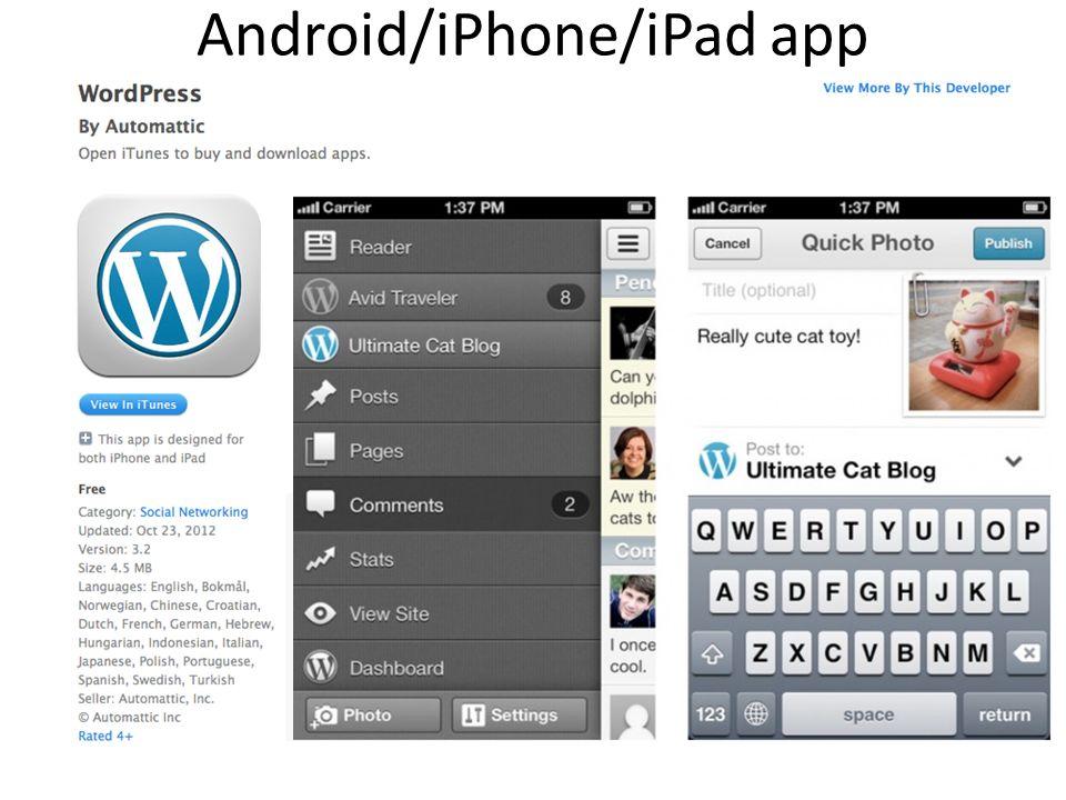 Android/iPhone/iPad app