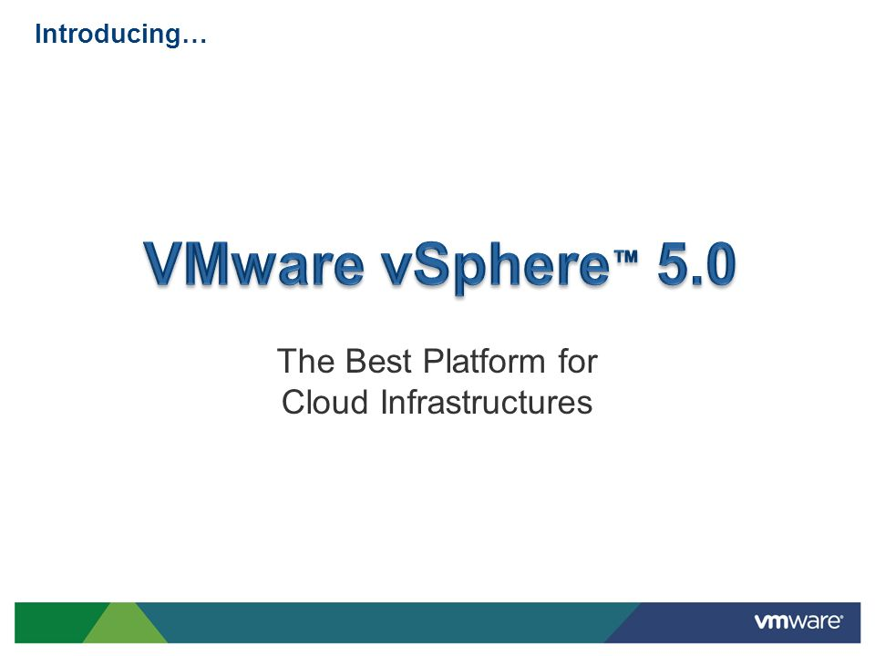 New Virtual Machine Features vSphere 5.0 supports the industrys most capable virtual machines Other new features UI for multi-core virtual CPUs Extended VMware Tools compatibility Support for Mac OS X servers Broader Device Coverage Client-connected USB devices USB 3.0 devices Smart Card Readers for VM Console Access VM BIOS boot order config API and PowerCLI interface EFI BIOS 3D graphics Richer Desktop Experience 32 virtual CPUs per VM 1TB RAM per VM 4x previous capabilities.