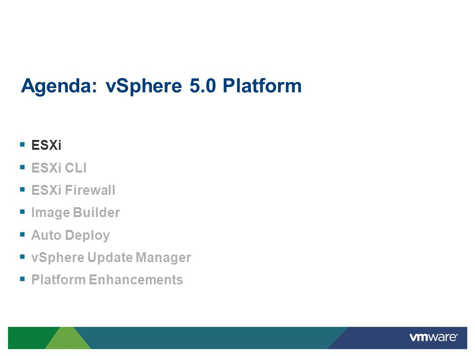 Create virtual machines with up to: 32 vCPU 1 TB of vRAM 4x size of previous vSphere versions Run even the largest applications in vSphere, including very large databases Virtualize even more applications than ever before (Tier 1 and 2) Scaling Virtual Machines 4x Overview Benefits