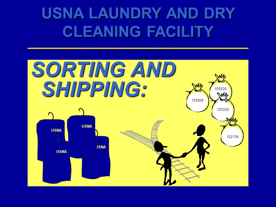 USNA LAUNDRY AND DRY CLEANING FACILITY SORTING AND SHIPPING: 122136 125826 105538 125328 USNA