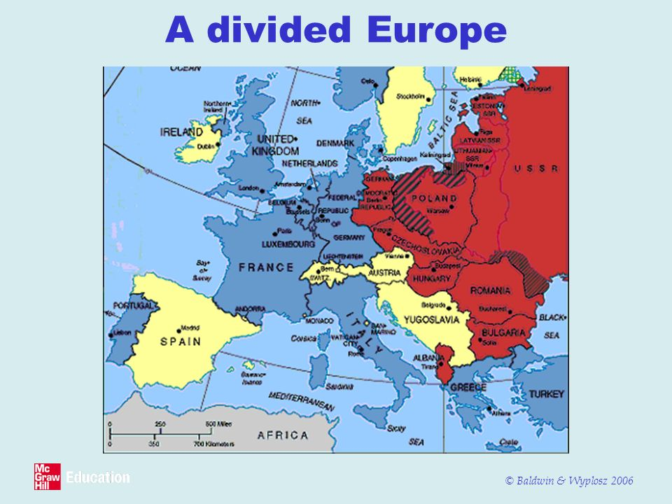 © Baldwin & Wyplosz 2006 A divided Europe