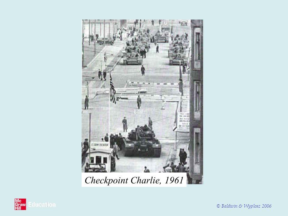 © Baldwin & Wyplosz 2006 Checkpoint Charlie, 1961