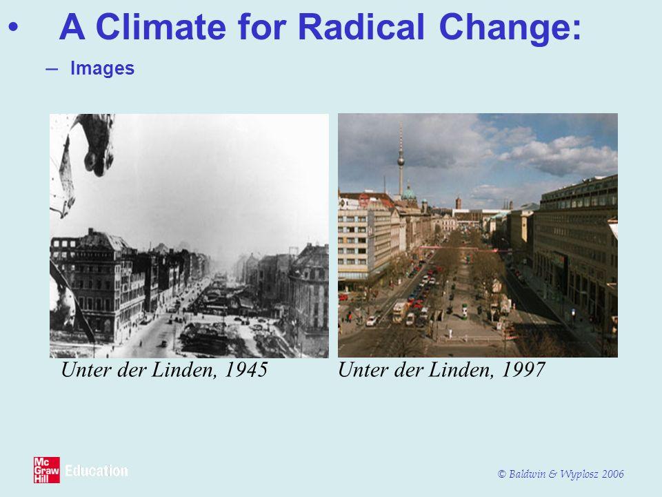 © Baldwin & Wyplosz 2006 Unter der Linden, 1945Unter der Linden, 1997 – Images A Climate for Radical Change: