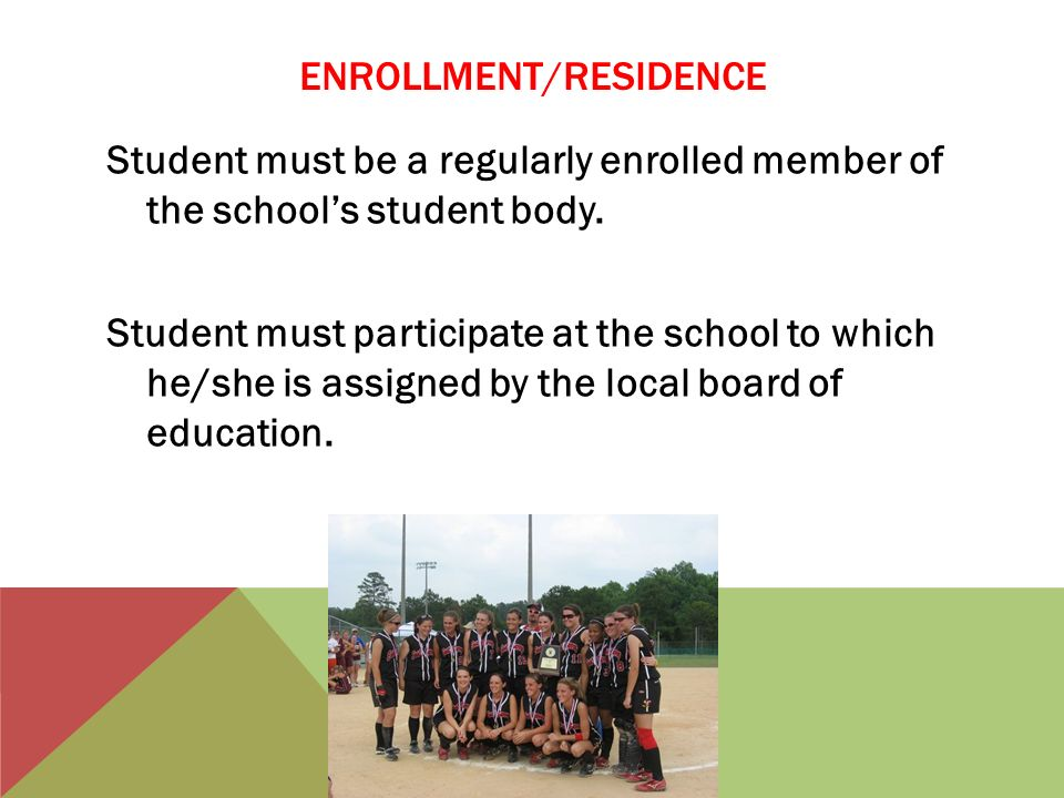 SCHOLASTIC REQUIREMENTS Must pass a minimum load of course work the previous semester to be eligible at any time during the semester.