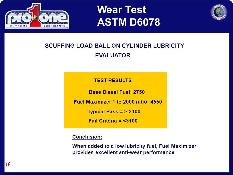 17 Base Fuel A Fuel A + Fuel Maximizer @ 1:2000 ppm w/w E B A NACE % Rust 75-100% <10% None Additive Fuel A + Fuel Maximizer @ 1:1000 ppm w/w Visual R