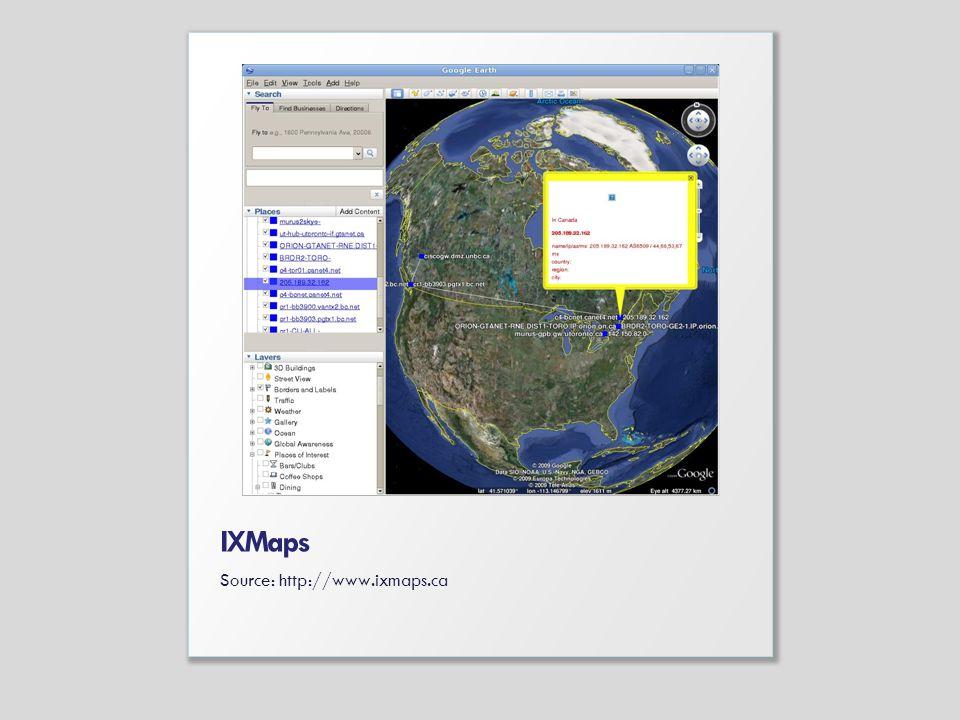 IXMaps Source: http://www.ixmaps.ca
